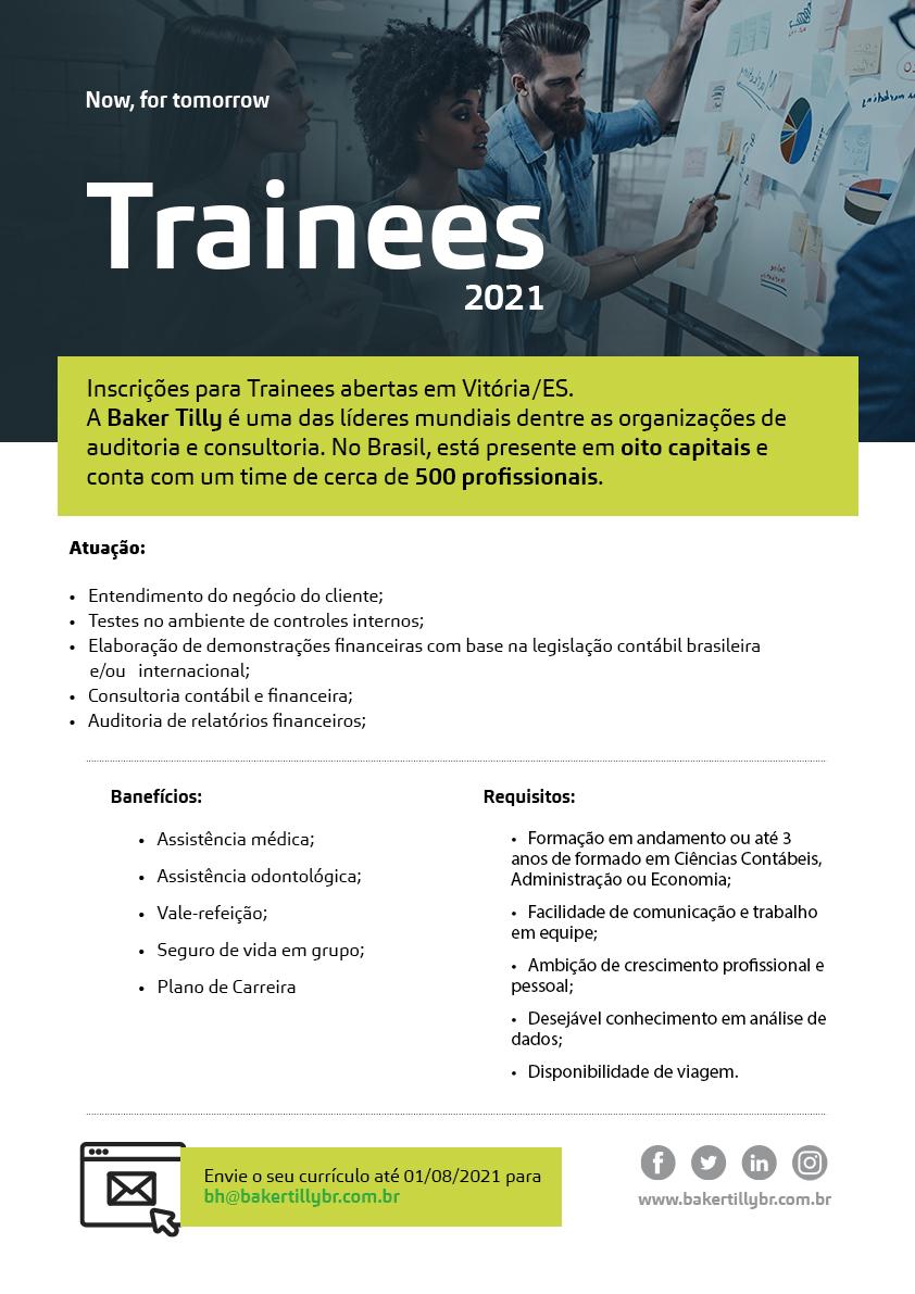 Seja trainee no escritório da Baker Tilly Vitória (ES)